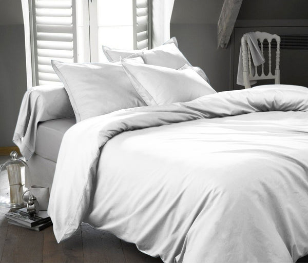 300 Thread Count 100% Cotton Solid Duvet Cover Set; Includes Duvet Cover and Coordinating Shams