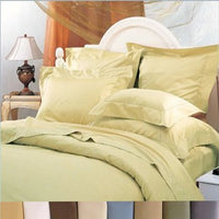 Wrinkle-Free 600 Thread Count 60% Cotton-40% Polyester Blend Solid Duvet Cover Set; Includes Duvet Cover and Coordinating Shams