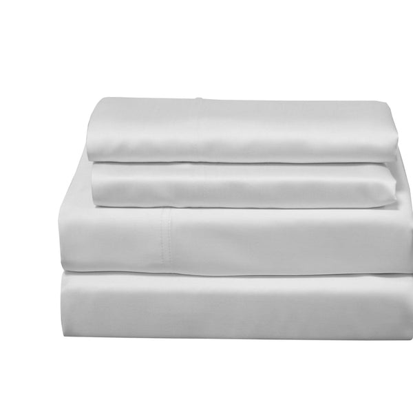600 Thread Count 100% Bamboo Viscose Solid Sheets With Deep Pockets; Includes Flat Sheet, Fitted Sheet, & Coordinating Pillowcases