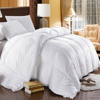 500T 100% Cotton Solid White Goose Down Comforter-750 Fill Power Extra Warmth Duvet Insert