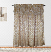 Peru Rod Pocket Panel and Waterfall Valance (Single)