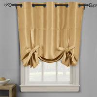 Soho Triple-Pass Thermal Insulated Blackout Curtain Panel Top Grommet - Tie Up Shade