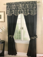 5pc Argentina Rod Pocket Curtain Panel and Valance Set