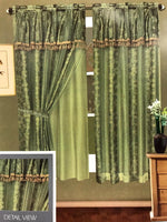 2pc Ashley Short Window Curtain Set (Pair)