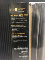 Thermal Stripe Black Out Rod Pocket Curtain Panel (Single)