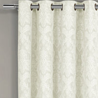 Chic Blair Damask Floral Polyester Curtain Panels (Set of 2)