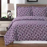 Eva 250 Thread Count 100% Combed Cotton Geometric Duvet Cover Set; Includes Duvet Cover and Coordinating Shams