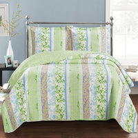 Envious Modern Hayley Bright Spring Floral Forest Design Quilt Set by Royal Hotel; Includes Quilt & Coordinating Shams