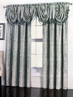 Huntley Jacquard Rod Pocket Curtain Panel and Valance (Single)