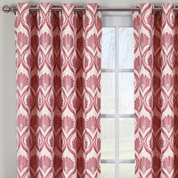 Modern Floral Jacqueline Jacquard Drapes Grommet Top (Set of 2 Panels)
