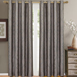 Laguna Contemporary Swirl Jacquard Curtain Panels With Top Grommets (Pair)