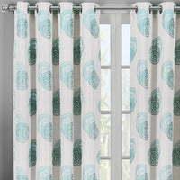 Lafayette Modern Abstract Jacquard Curtain Panels With Grommets ( Set of 2)