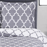 Modern Meridian Oversized Hypoallergenic Quilt Sets; 100% Soft Microfiber; Includes Geometric Quilt & Coordinating Shams
