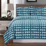 Norwich 250 Thread Count 100% Cotton Striped Duvet Cover Set; Includes Duvet Cover and Coordinating Shams