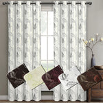 Elegant Leafy Olivia Embroidered Room Darkening Polyester Curtain Panels (Set of 2)