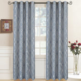 Elegant Regalia Abstract Jacquard Textured Grommet Top Curtain Panels (Set of 2)