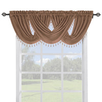 Soho Faux Silk Window Treatments, Panel or Waterfall Valance, Beautiful Decor