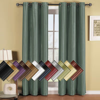 One Soho Top Grommet Blackout Window Curtain Panel, Triple-Pass Foam Layer