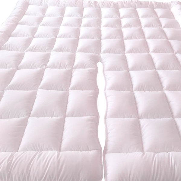 Split Top King Plush 2 Inches Mattress Pad Down Alternative Anchor Bands