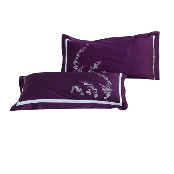 300 Thread Count 100% Cotton Purple Spring Valley Pillow Shams (Pair)