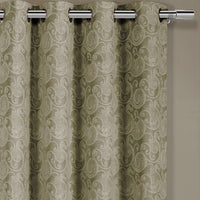 Contemporary and Elegant Tabitha Jacquard Grommet Top Curtain Panel (Single)