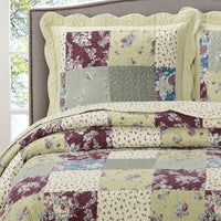 Classic Ivory and Wine Tania Westlife Fashions Antique Mini Bedspread Set
