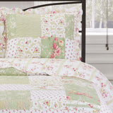 Elegant and Contemporary Upland Floral Quilt/Coverlet Bed in a Bag; Includes Quilt, Coordinating Shams, White Flat Sheet, White Fitted Sheet, and White Pillowcases