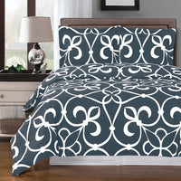 Victoria 250 Thread Count 100% Cotton Duvet Cover Set; Includes Duvet Cover and Coordinating Shams