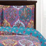 Passionately Printed Floral Viola Oversized Quilted Coverlet Mini Bed Quilt Set; Includes Quilt & Coordinating Shams