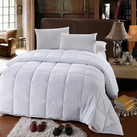 600 Thread Count 100% Cotton Solid Bed in a Bag; Includes Duvet Cover, Coordinating Shams, White Flat Sheet, White Fitted Sheets, White Pillowcases, & Down Alternative Comforter
