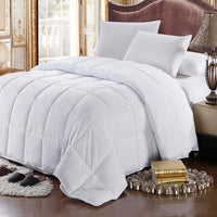 300TC 100% Cotton White Goose Feather and White Goose Down Comforter-All Seasons