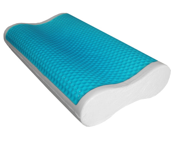 Unique Abripedic Comfort Contour Cool Gel Memory Foam Pillow (Single)
