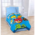 "Angry Birds Blanket Twin / Full 62"" X 90"" Super Soft Plush Bed Blanket"