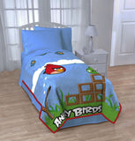 "Angry Birds Blanket Twin / Full 62"" X 90"" Micro Raschel Super Soft Bed Blanket"