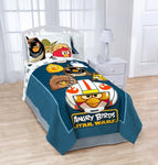 "Angry Birds Star Wars Horizon Fleece Bed Plush Throw Blanket 62""x 90"""