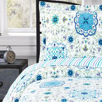 Striking Arielle Wrinkle-Free Quilt Set; Oversized In Twin, Queen or King; Includes Geometric Quilt & Coordinating Shams
