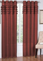 Artisan Pleated Matte Sheer Top Grommet Single Panel (Available in 2 different colors)