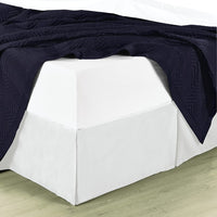 100% Microfiber Solid Bed Skirt; Dust and Hair Repellent; Machine Washable