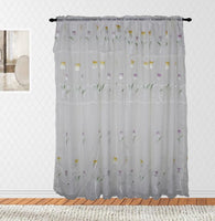 Best Home Floral Spring Rod Pocket Panel Pair (Available in 2 different colors)