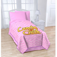 "Pink Candy Crush Plush Blanket Throw Super Soft 62"" x 90"""