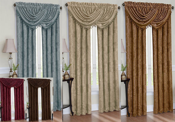 "Celeste Thermal Blackout Rod Pocket 84"" Curtain Panel & Valance Collection"