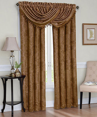 curtains pocket valance rod beige products waterfall marburn hilton