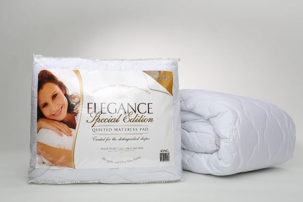 Elegance Special Edition 100% Cotton Quilted Mattress Pad