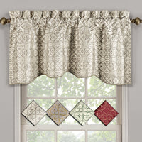 "Halifax Scalloped Decorative Rope Embroidered Lined Valance 52""Wx19""L(Single)"