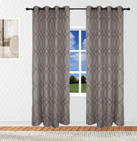 Hudson Embroidered Textured Top Grommet Panel ( Available in 4 different colors)