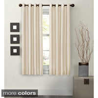 Jenin Set of 2 Faux Linen Top Grommet Panels 63in. long (Available in 2 different colors)