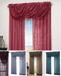 Symmetry Geometric Pattern Sheer Panel and Valance Collection