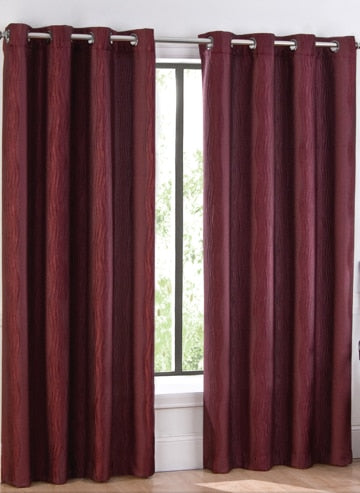 Sophisticated Marquis Wavy Jacquard Curtains with Grommet Top 52Wx84L Panels (Single)