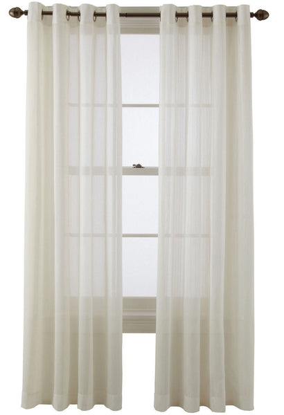 "Martha Window Stylish Sunset Grommet-Top Sheer One Panel 50 x 84"" (Available in 5 different colors)"