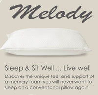 Luxury Loft White Melody Memory Foam Pillow; Dust Mite Resistant (Single)